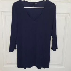 New directions criss-cross the neck blouse M